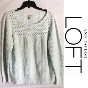 Ann Taylor Loft Blue Knitted Sweater